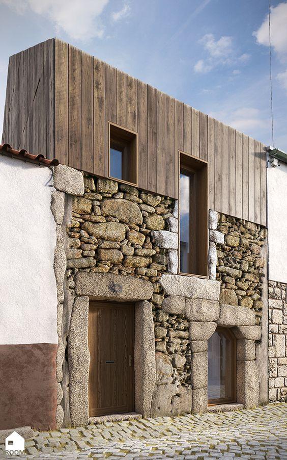 Piedra para fachada exterior good pared exterior y el - Piedra fachada exterior ...