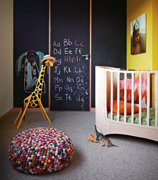 habitacion-niños-pintura-pizarra-valladolid